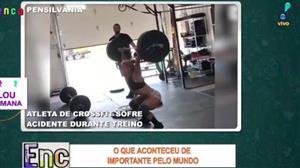Atleta de crossfit se acidenta durante treino
