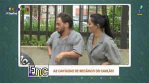 Biscui e Carlão aprontam nas 'Cantadas de Mecânico'