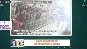Homem se benze antes de roubar loja religiosa na Paraíba