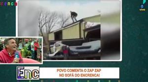 """Povo do sofá do Encrenca se diverte com falso """"homem-aranha"""""""