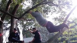 Espertão tenta dar uma de Tarzan e acaba se dando mal
