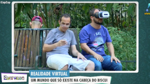 Realidade virtual: o Biscui cavalgando