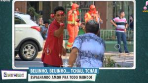 Beijinho, beijinho: Todo mundo retribuiu o beijinho!