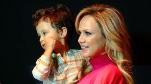 Eliana leva o filho Arthur ao trabalho