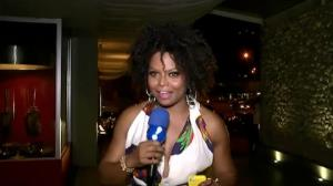 Bombom confere festa com elenco de novela no RJ