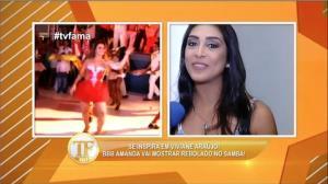 Ex-BBB Amanda desmente esnobada de Juliana Paes