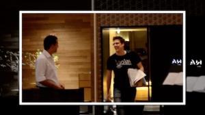 F�bio Porchat sai apressado de restaurante japon�s no Rio de Janeiro