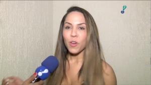 Mulher Mel�o garante: 'eu peguei no neg�cio'