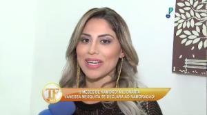 Vanessa Mesquita se declara ao namorado m�dico e fala de bissexualidade