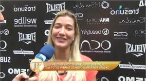 Gabriela Pugliesi garante que n�o viu fotos do namorado nu na web