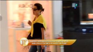 Adriana Esteves � flagrada fazendo compras