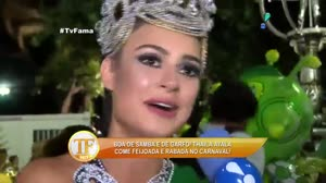 Thaila Ayala fala da emo��o em representar uma 'Miss Brasil' na Sapuca�