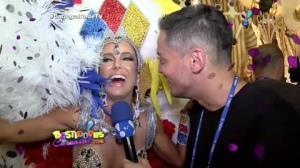 Ticiane Pinheiro mostra boa forma e diz que 'nasceu pronta para o Carnaval'