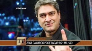 Zeca Camargo pode ser condenado a pagar R$ 1 milh�o � fam�lia de cantor