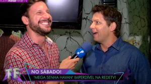 Mario Frias e as modelos Maura Maurer e Flávia Barros estão no Mega Senha
