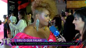 "Gaby Amarantos relembra tombo em show: ""Virei meme"""