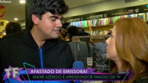 "André Azeredo fala sobre saída de programa: ""Tô seguindo o baile"""