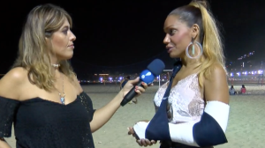 """Musa da Unidos da Tijuca relata drama em bloco: """"Quebrei o pulso"""""""