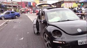 Vídeo flagra racha que terminou com a morte de uma jovem em SP