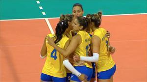 Seleção feminina de vôlei vence a República Dominicana em Manaus
