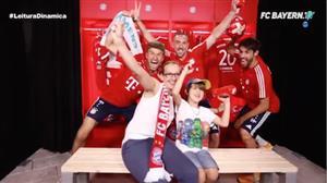 Bayern de Munique faz a festa dos fãs com brincadeira inusitada
