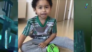 Jogador do Palmeiras divulga vídeo do filho recuperado de afogamento