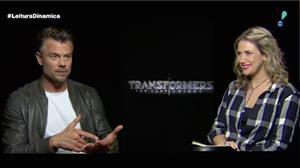 Astros exaltam o 'imprevisível' durante as filmagens de Transformers