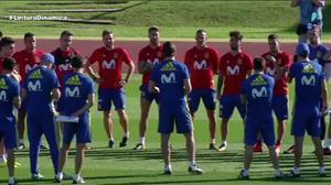 Espanha treina com portões fechados após incidente com Piqué