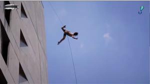 Espetáculo de dança vertical é uma das atrações da Agenda Cultural