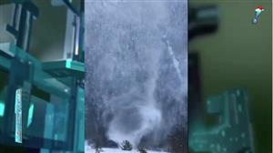 Polonês filma raro 'tufão' na neve