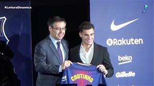 Philippe Coutinho é apresentado oficialmente pelo Barcelona