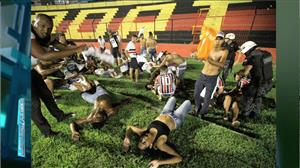 Confusão em clássico no Recife termina com dezenas de feridos