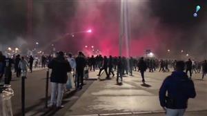 Torcedores franceses enfrentam a polícia antes de jogo entre Lyon e CSKA