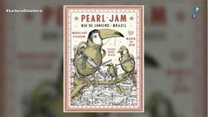 Cartaz de show do Pearl Jam com crítica social ao RJ causa polêmica