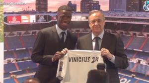 Brasileiro Vinicius Jr. é apresentado no Real Madrid