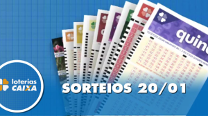 Resultado da Quina - Concurso nº 5175 - 20/01/2020