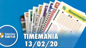 Resultado da Timemania - Concurso nº 1445 - 13/02/2020