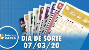 Resultado do Dia de Sorte - Concurso nº 274 - 07/03/2020