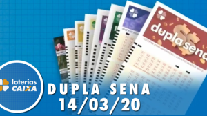 Resultado da Dupla Sena - Concurso nº 2062 - 14/03/2020