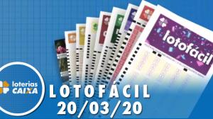 Resultado da Lotofácil - Concurso nº 1943  - 20/03/2020