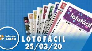 Resultado da Lotofácil - Concurso nº 1945  - 25/03/2020