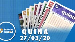 Resultado da Quina - Concurso nº 5231  - 27/03/2020