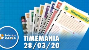 Resultado Timemania - Concurso nº 1464 - 28/03/2020
