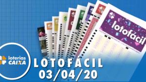 Resultado da Lotofácil - Concurso nº 1949 - 03/04/2020