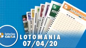 Resultado da Lotomania - Concurso nº 2063 - 07/04/2020