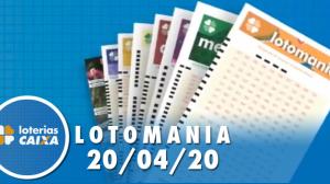 Resultado da Lotomania - Concurso nº 2067 - 20/04/2020