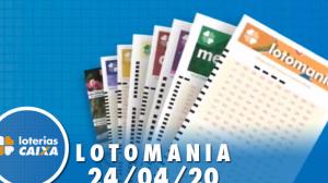 Resultado da Lotomania - Concurso nº 2068 - 24/04/2020