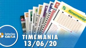 Resultado Timemania - Concurso nº 1497 - 13/06/2020