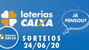 Loterias Caixa: Mega-Sena e Lotofácil 24/06/2020