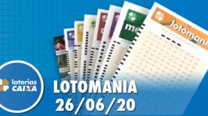 Resultado Lotomania - Concurso nº 2086 - 26/06/2020